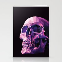skull Stationery Cards featuring Skull by Roland Banrevi