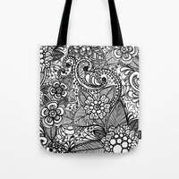 Flower Fountain Tote Bag