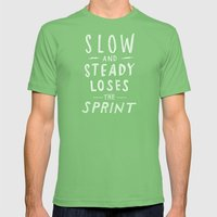 slow and steady loses the sprint Mens Fitted Tee Grass SMALL