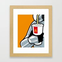 The secret life of heroes - StormDrink Framed Art Print