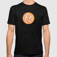 Zodiac Sign : Leo Mens Fitted Tee Tri-Black SMALL