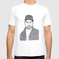 Denzel Washington Portra… Mens Fitted Tee White SMALL