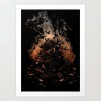 Arising after a fall Art Print