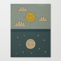 Good Day, Good Night Canvas Print