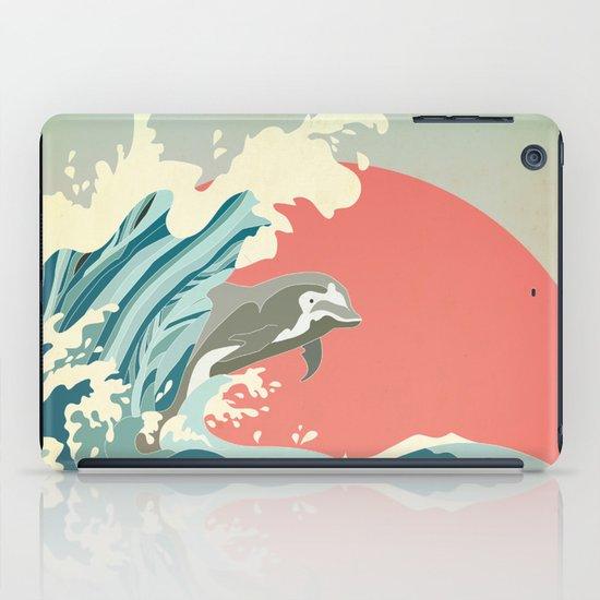 dolphin happiness iPad Case