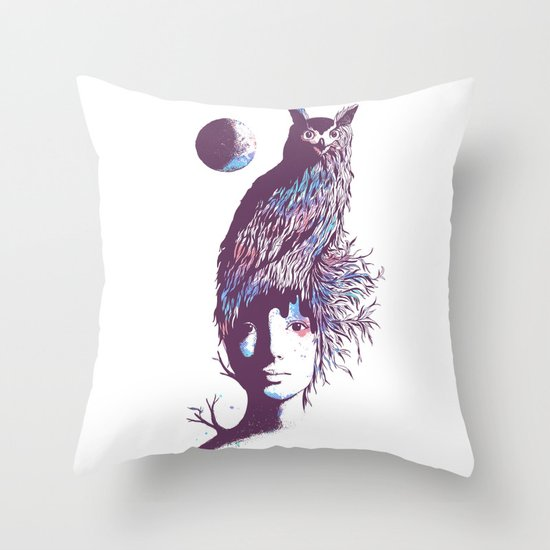 Night Watcher Throw Pillow