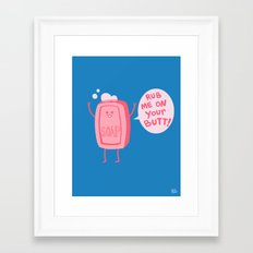 Lil' Soap Framed Art Print