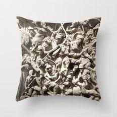 Roman Battle Throw Pillow