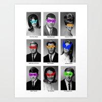 Superhero Academy Art Print