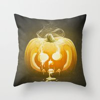 Pumpkin II. Throw Pillow