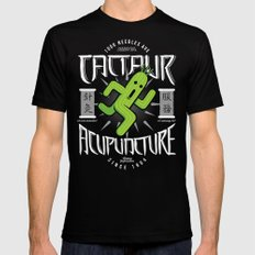 Cactaur Acupuncture SMALL Mens Fitted Tee Black