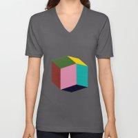 Rhombic Unisex V-Neck