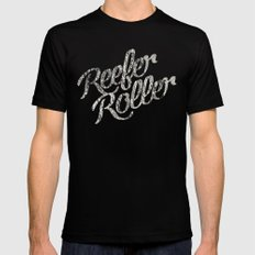 Reefer Roller Mens Fitted Tee Black SMALL