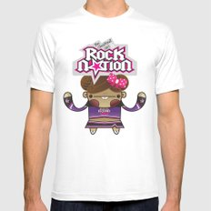 The Chestnut Girl & Rock Nation !!! Mens Fitted Tee SMALL White