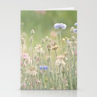 Pink & Blue Meadow Stationery Cards