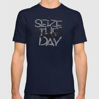 Seize the day Mens Fitted Tee Navy SMALL