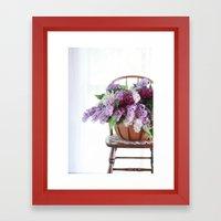 Bouquet of Beautiful - Lilacs  Framed Art Print