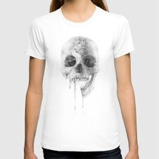 Crystal Skull Womens Fitted Tee White SMALL