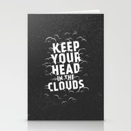 Keep Your Head In The Cl… Stationery Cards