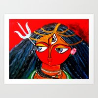 Durga, The Warrior Godde… Art Print