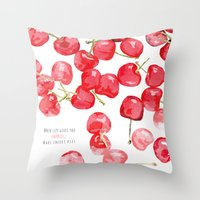 Cherry pies Throw Pillow