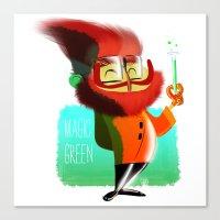 Magic Green Canvas Print