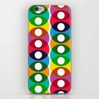 Geometric bubbles iPhone & iPod Skin