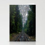 Train Tracks Dream Stationery Cards