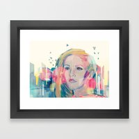 City Lights ANALOG zine Framed Art Print