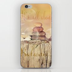 All about Balance iPhone & iPod Skin