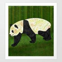 panda Art Prints featuring Panda by Ben Geiger
