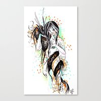 The Dragon Virgo Canvas Print