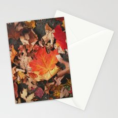 crimson leaves Stationery Cards