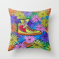 SNEAKER OF PEACE AND LOVE Throw Pillow