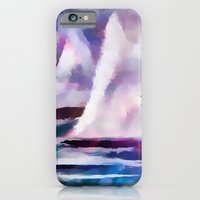 Sailing The Coast Of San Diego by Sherri Of palm Springs/ abstract iPhone 6 Slim Case