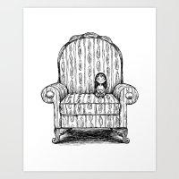 Big Chair Art Print
