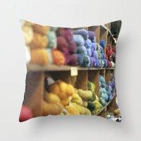 Yarn Barn Throw Pillow