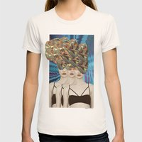 Threesome Womens Fitted Tee Natural SMALL