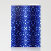 Ikat Shibori Blues Stationery Cards