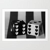 Black & White Dice Art Print
