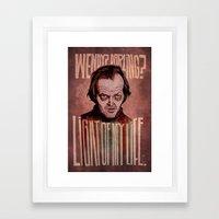 Light of my Life // The Shining Framed Art Print