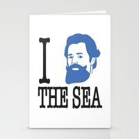 I __ The Sea Stationery Cards