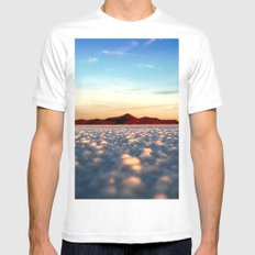 Sunrise Mens Fitted Tee SMALL White