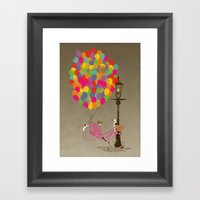 Love to Ride my Bike with Balloons even if it's not practical. Framed Art Print