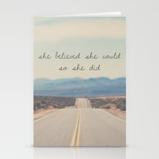 she believed she could so she did Stationery Cards