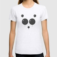 Panda Balloon  Womens Fitted Tee Ash Grey SMALL
