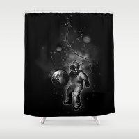 Deep Sea Space Diver Shower Curtain