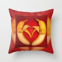Banana Love Throw Pillow