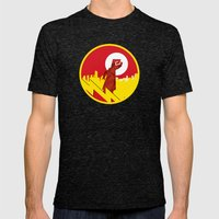 Polygon Heroes Rise 4 Mens Fitted Tee Tri-Black SMALL