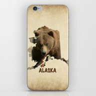 Alaskan Grizzly Map iPhone & iPod Skin
